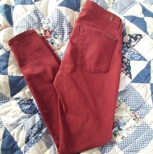 7 for all mankind Dark Red Pants